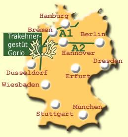 Landkarte und Wegbeschreibung